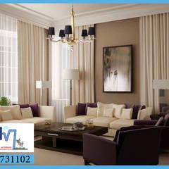 مجموعة التصميمات الداخلية و الديكور رقم 1: translation missing: eg.style.غرفة-المعيشة.modern غرفة المعيشة تنفيذ pm architects