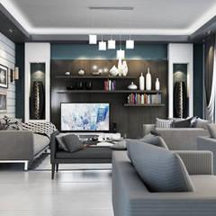 Reception: translation missing: eg.style.غرفة-المعيشة.modern غرفة المعيشة تنفيذ Boly Designs