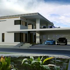 ผลงานออกแบบบ้านพักอาศัย 2 ชั้น Modern Style by KL-Cons.: translation missing: th.style.บ-านและที-อยู-อาศัย.modern บ้านและที่อยู่อาศัย by บริษัท เค.แอล.คอนสตรัคชั่น แอนด์ ซัพพลาย จำกัด