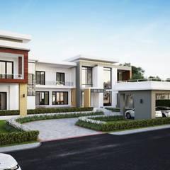 ผลงานออกแบบบ้านพักอาศัย 2 ชั้น Modern1 Style by KL-Cons.: translation missing: th.style.บ-านและที-อยู-อาศัย.modern บ้านและที่อยู่อาศัย by บริษัท เค.แอล.คอนสตรัคชั่น แอนด์ ซัพพลาย จำกัด