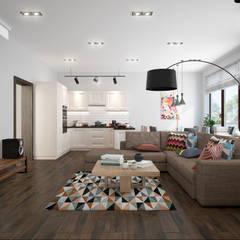 townhouse in scandinavian style: scandinavian Living room by design studio by Mariya Rubleva