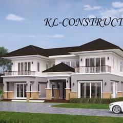 ผลงานออกแบบบ้านพักอาศัย 2 ชั้น Contemporary Style by KL-Cons.: translation missing: th.style.บ-านและที-อยู-อาศัย.tropical บ้านและที่อยู่อาศัย by บริษัท เค.แอล.คอนสตรัคชั่น แอนด์ ซัพพลาย จำกัด