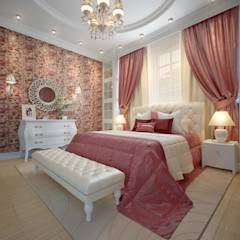 large apartment in classic style in Moscow: classic Bedroom by design studio by Mariya Rubleva