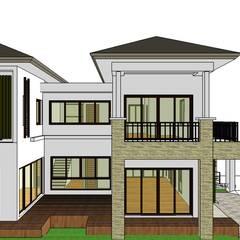 ผลงานออกแบบบ้านอาศัย 2 ชั้น Contemporary Style by KL-Cons.: translation missing: th.style.บ-านและที-อยู-อาศัย.tropical บ้านและที่อยู่อาศัย by บริษัท เค.แอล.คอนสตรัคชั่น แอนด์ ซัพพลาย จำกัด