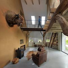 Koek Stijl: country Living room by BuroKoek