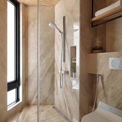 山.嵐: translation missing: tw.style.浴室.modern 浴室 by 木皆空間設計