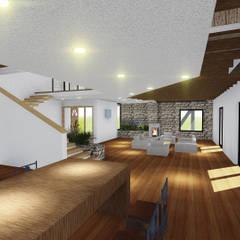 VIVIENDA UNIFAMILIAR DE NIEBLA - VALDIVIA: Comedores de estilo moderno por GerSS Arquitectos
