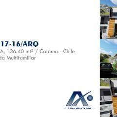 ▪⁞ VIVIENDA MULTIFAMILIAR SIMPLE ⁞▪: Casas de estilo minimalista por ARQUIFUTURA... Arquitectura Integral
