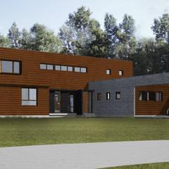 CASA NS: Casas de estilo mediterraneo por EjeSuR Arquitectura