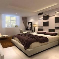 غرفة نوم: translation missing: eg.style.غرفة-نوم.modern غرفة نوم تنفيذ القصر للدهانات والديكور