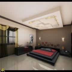 شقة بتصميم مصري: translation missing: eg.style.غرفة-نوم.eclectic غرفة نوم تنفيذ Etihad Constructio & Decor