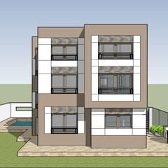 فيلا مودرن تطل علي بحيرة مريوط: translation missing: eg.style.منازل.modern منازل تنفيذ New Home Architecture