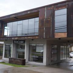 Oficinas ABN - Antiguo Matadero: Edificios de Oficinas de estilo translation missing: cl.style.edificios-de-oficinas.industrial por Naritelli-Bravo Arquitectos