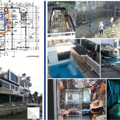 Idea - Zone น้ำ (project 55-01 บ้านคุณอดิสรณ์ โสภา): translation missing: th.style.สระว-ายน-ำ.modern สระว่ายน้ำ by คณะบุคคลมุมน้ำเงิน