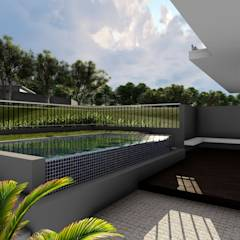 Copperleaf Dream: modern Pool by Ellipsis Architecture