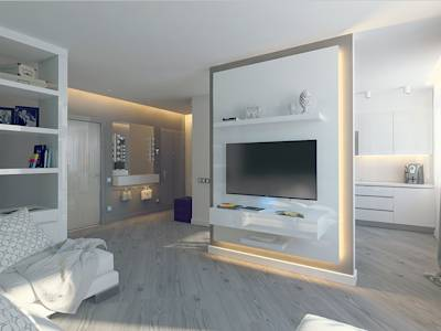 minimalistic Living room by Tutto design