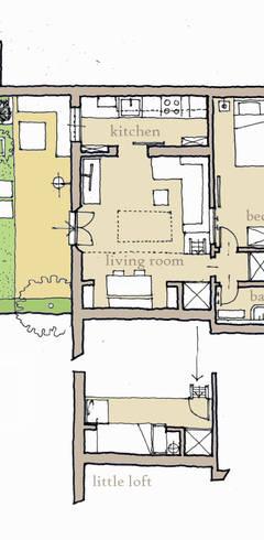Come in un cottage for Planimetria di cottage calabash