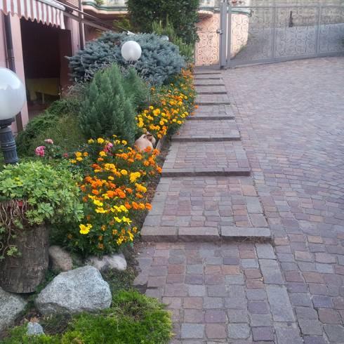 Jardines y patios 10 ideas con adoquines sensacionales for Adoquines para jardin