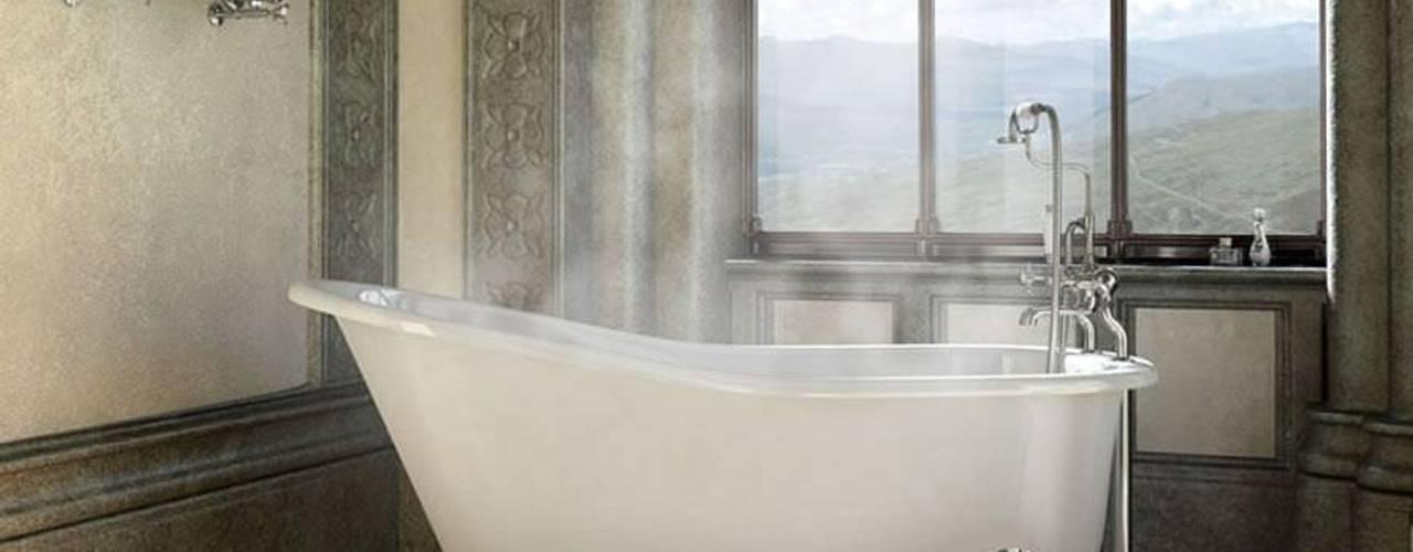 Bädermax freistehende Badewanen aus Mineralguss: landhausstil Badezimmer von Maxxwell AG