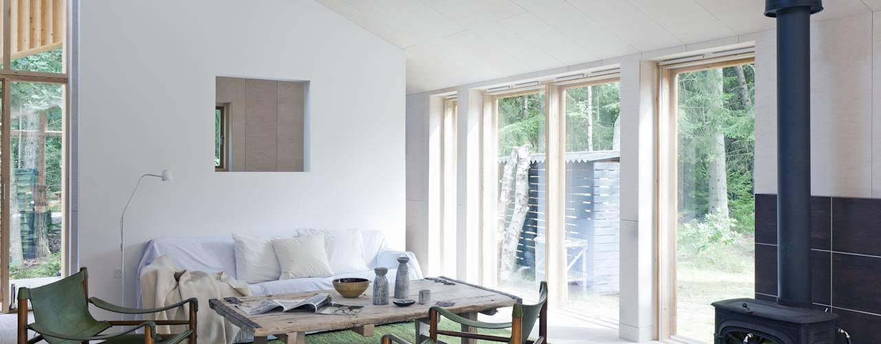 Facit Homes: iskandinav tarz tarz Oturma Odası