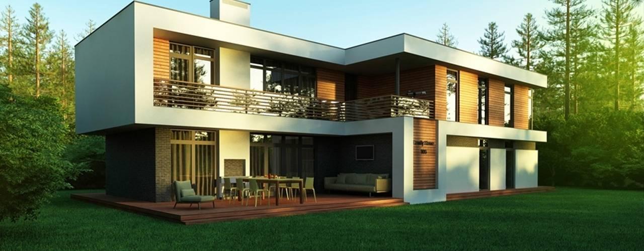Проект современного частного дома в России: Дома в translation missing: ru.style.Дома.minimalizm. Автор - Sboev3_Architect