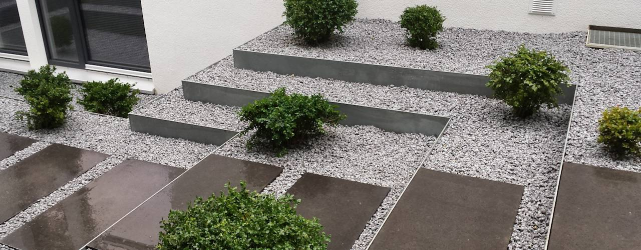 Senderos escalonados para jardines modernos 7 ideas for Jardines de patios modernos