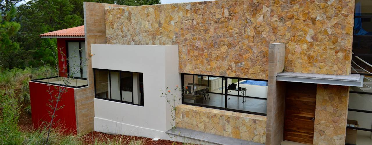 15 ideas con piedra laja que har n lucir tu fachada - Placas imitacion piedra ...