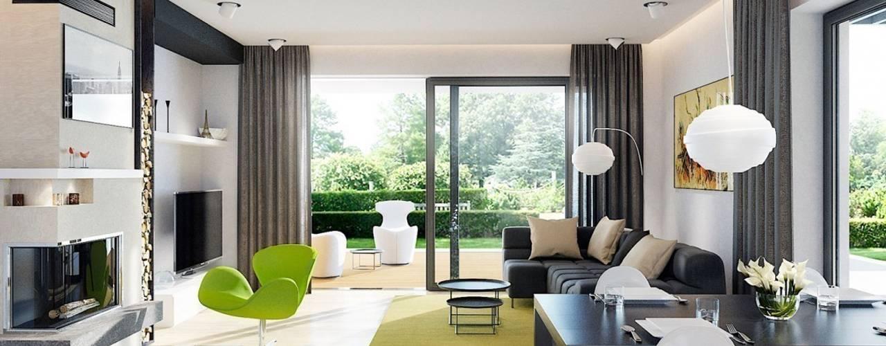 translation missing: id.style.ruang-keluarga.modern Ruang Keluarga by Pracownia Projektowa ARCHIPELAG