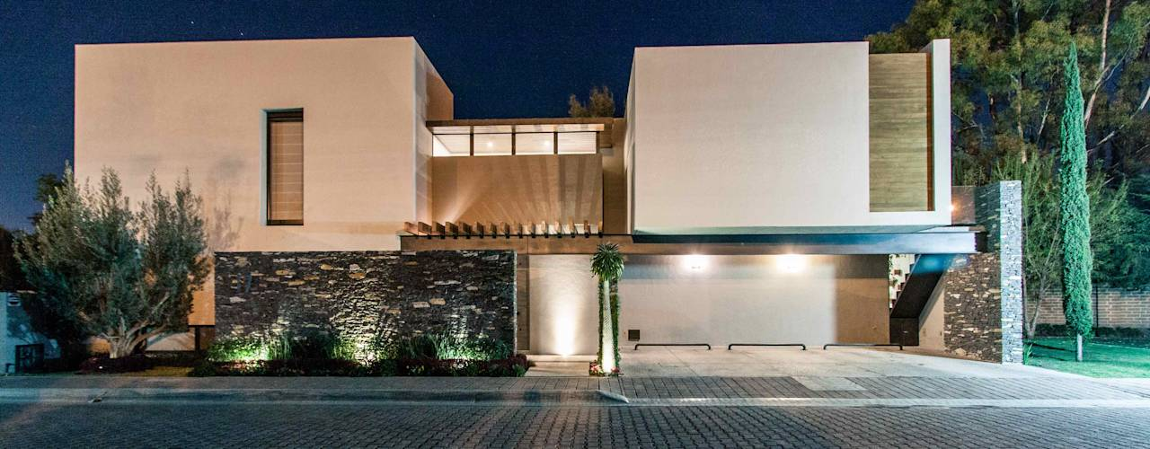 10 fachadas modernas ideales para casas de dos pisos for Fachadas d casas d dos pisos