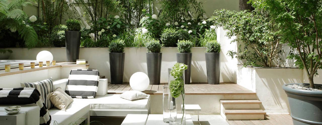 10 jardineras de cemento perfectas para patios y terrazas - Jardineras para terrazas ...