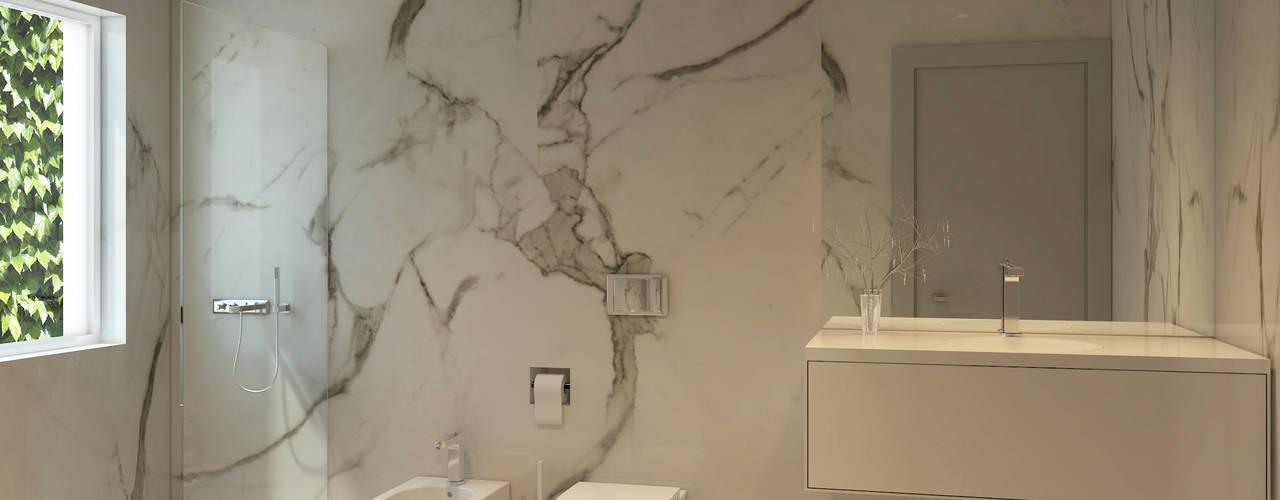 modern Bathroom by Lagom studio