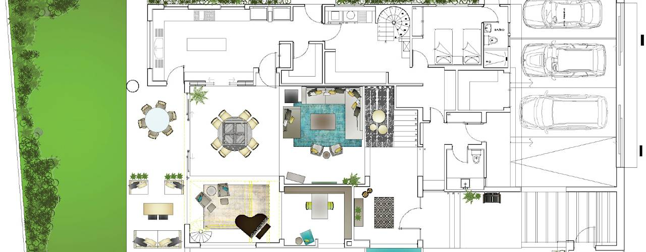 4 casas modernas con sus planos que te van a encantar for Casa moderna 90m2