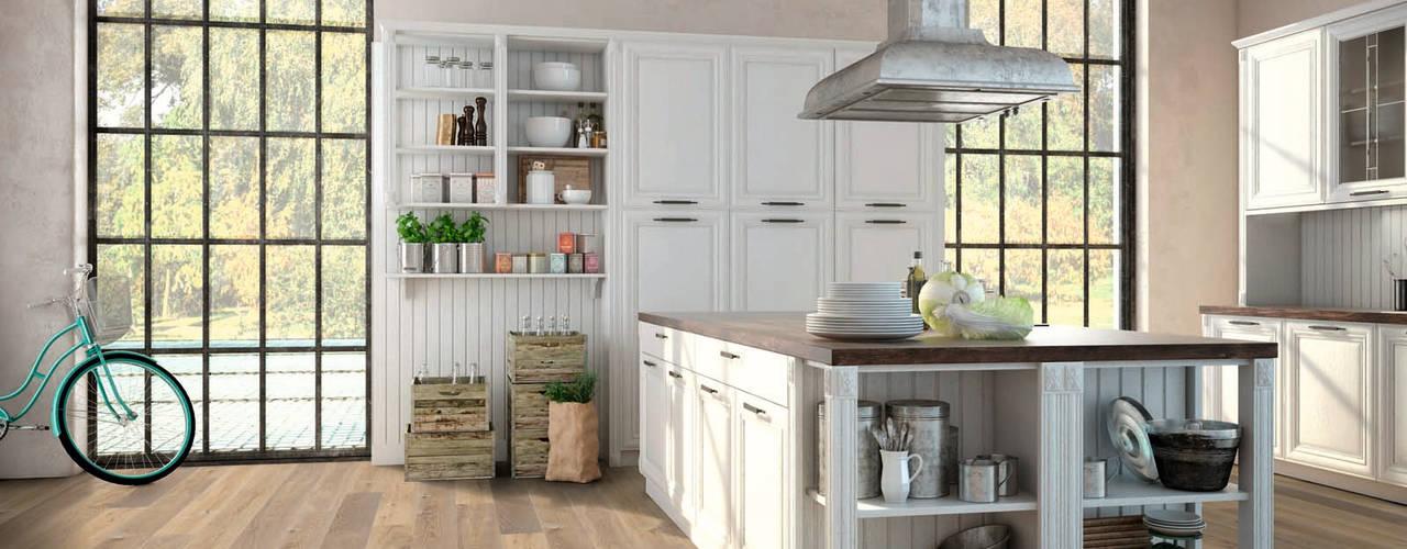 Holzboden: Ambiente Eiche, classic, gehobelt, kaschmirgrau, geölt.: moderne Wand & Boden von Hain Parkett