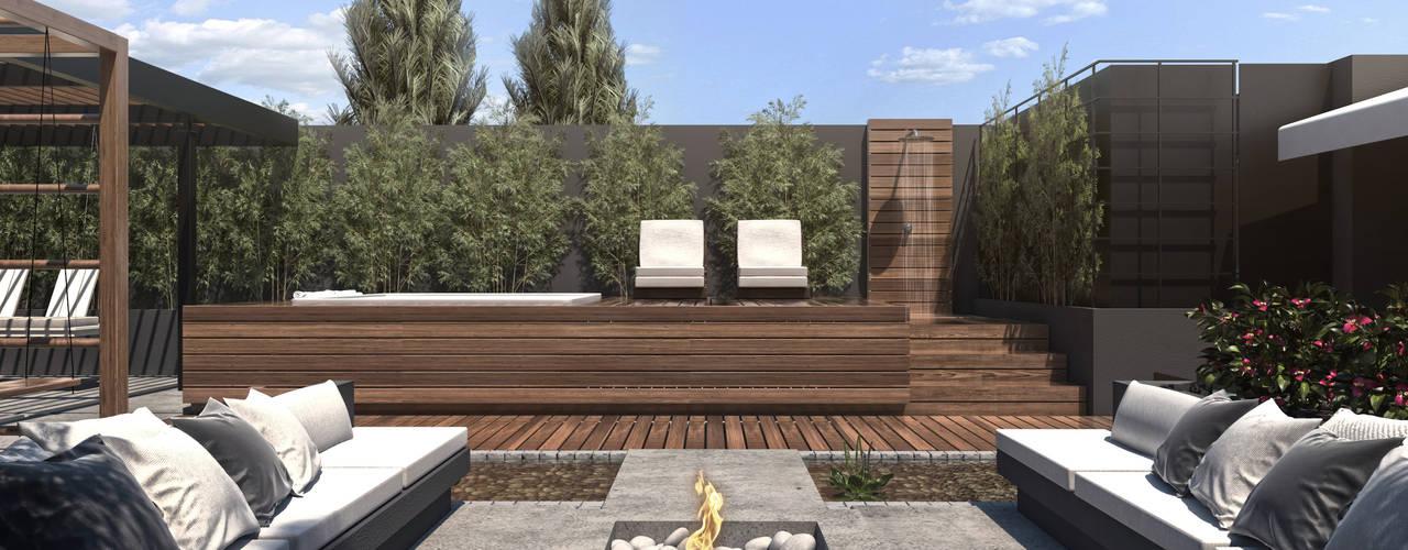 7 bonitas terrazas en desnivel que podr s dise ar en tu patio for Terrazas sencillas y bonitas