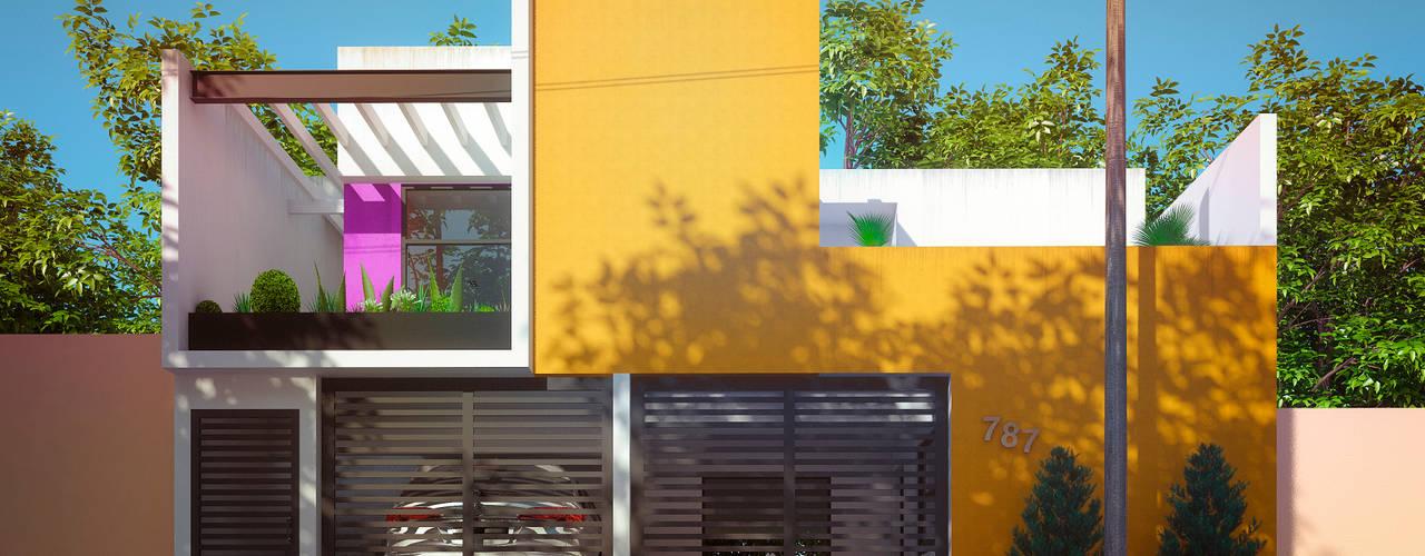Casa Centenario: Casas de estilo minimalista por Emergente Mx