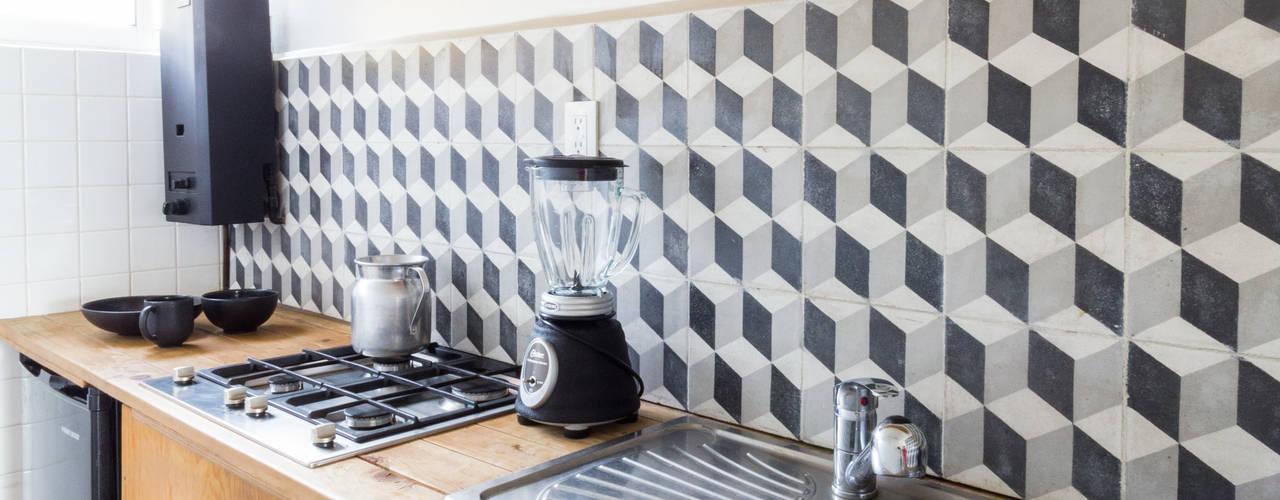 12 ideas con azulejos para que tu cocina se vea fant stica - Racholas para cocina ...