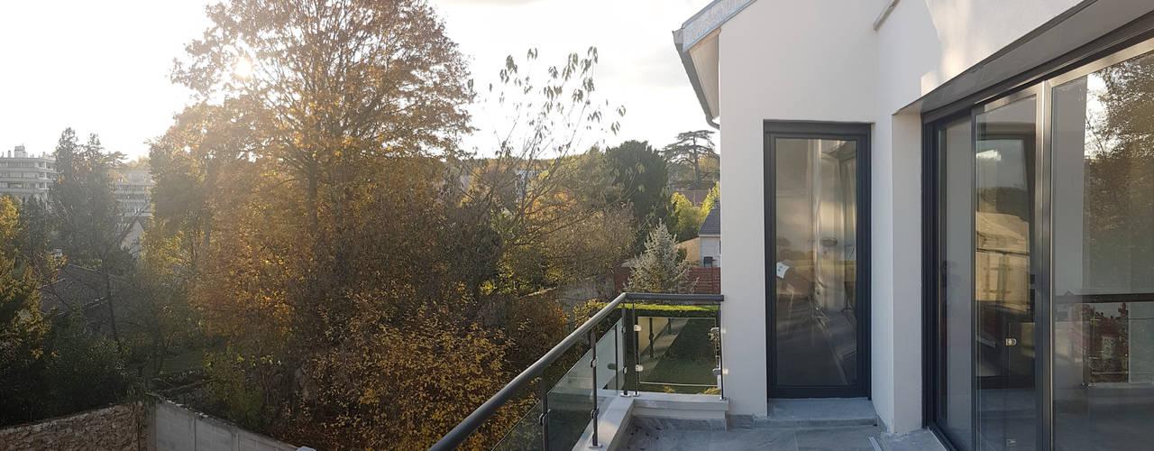 modernes haus mit landhaus charme. Black Bedroom Furniture Sets. Home Design Ideas