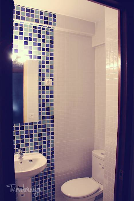 Foto di bagno in stile in stile moderno di dise adora de interiores decoradora y home stager - Disenadora de interiores ...