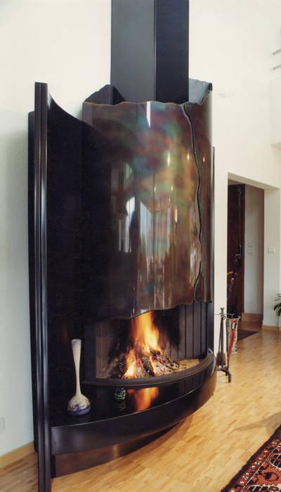 Photos de salon de style de style moderne : cheminée contemporaine ...