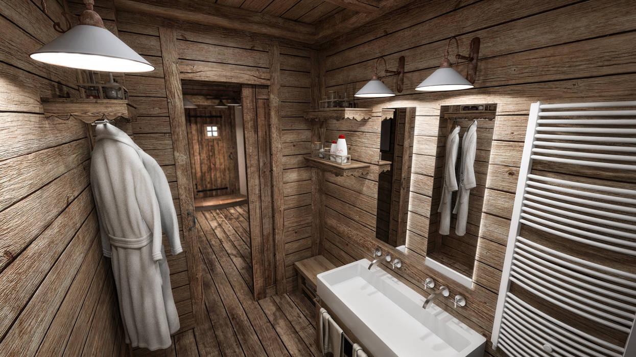 Idee arredamento casa interior design homify - Arredo bagno montagna ...