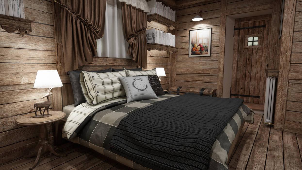 Foto di camera da letto in stile in stile rustico : cascina di montagna  homify