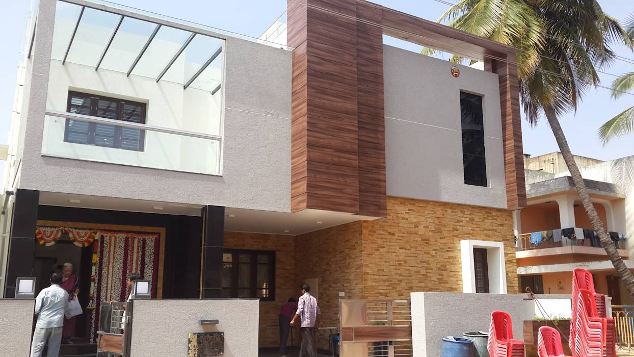 Elevation With Stone Cladding : Modern houses photos north elevation with stone and