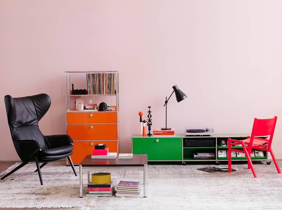 Sala de estar translation missing: pt.style.sala-de-estar.ecletico por USM Möbelbausysteme
