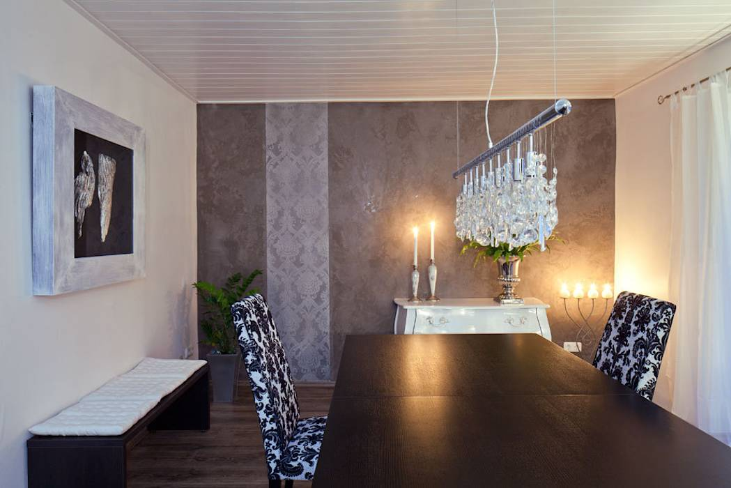 moderne esszimmer bilder wohnraum wandgestaltung mit marmorputz homify. Black Bedroom Furniture Sets. Home Design Ideas