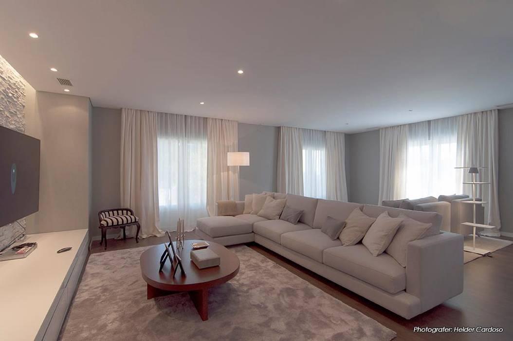 Fotos de salas de estar modernas sala comum homify for Sala de estar no minecraft