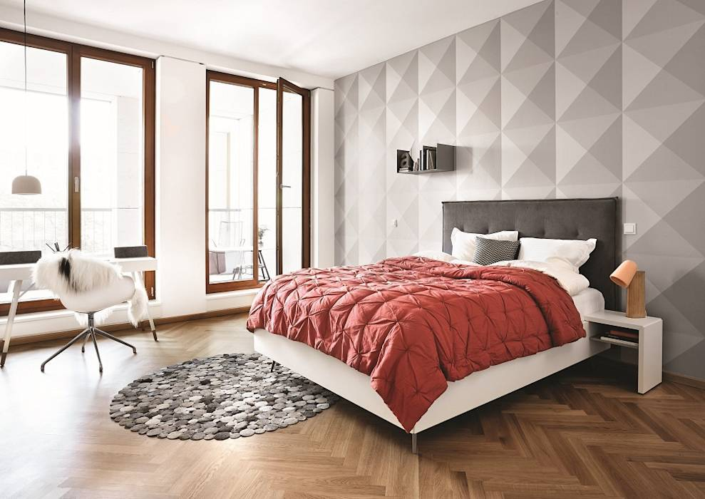 moderne schlafzimmer bilder lugano bett homify. Black Bedroom Furniture Sets. Home Design Ideas