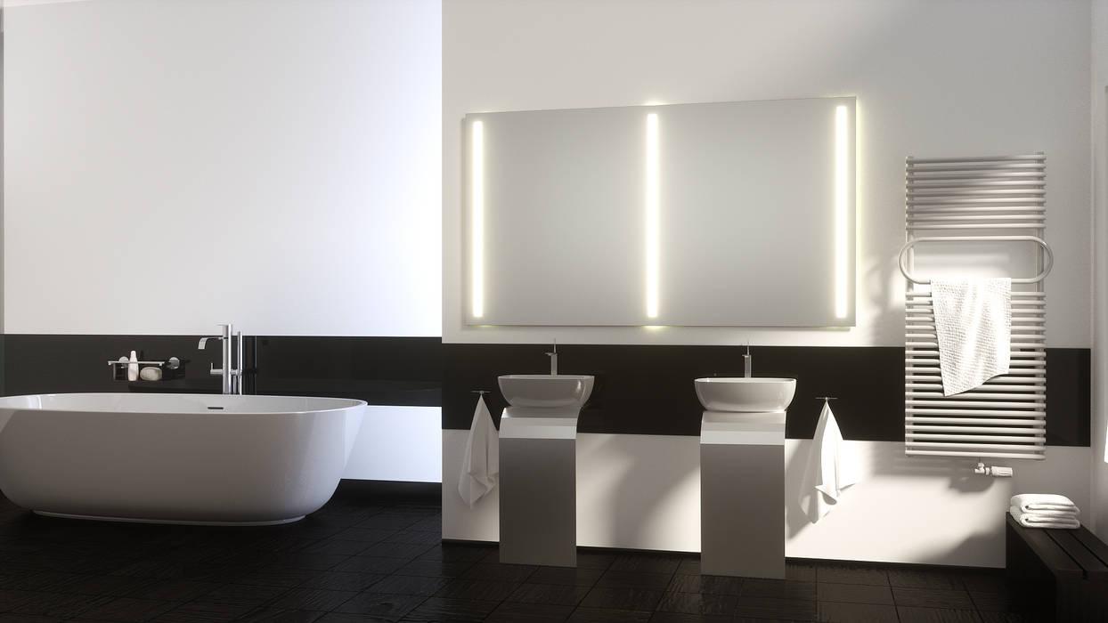 foto di bagno in stile in stile moderno di schreiber licht. Black Bedroom Furniture Sets. Home Design Ideas