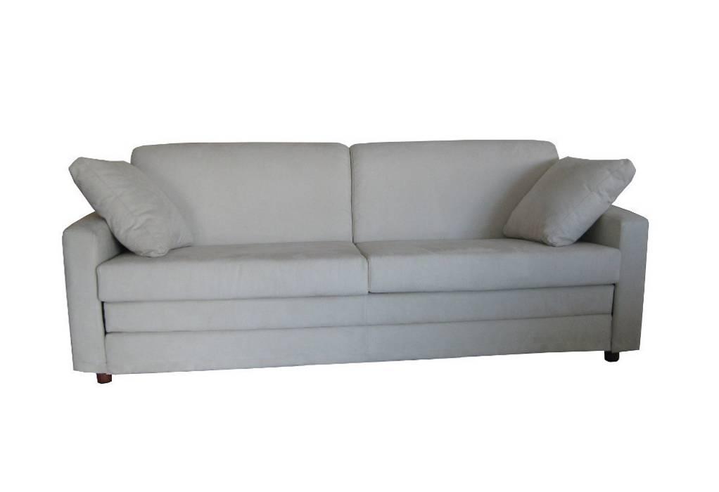 Foto di soggiorno in stile in stile mediterraneo divano - Divano letto singolo girevole ...