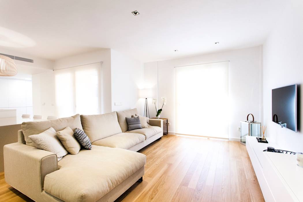Fotos de salones de estilo escandinavo casa jc homify - Salones estilo escandinavo ...
