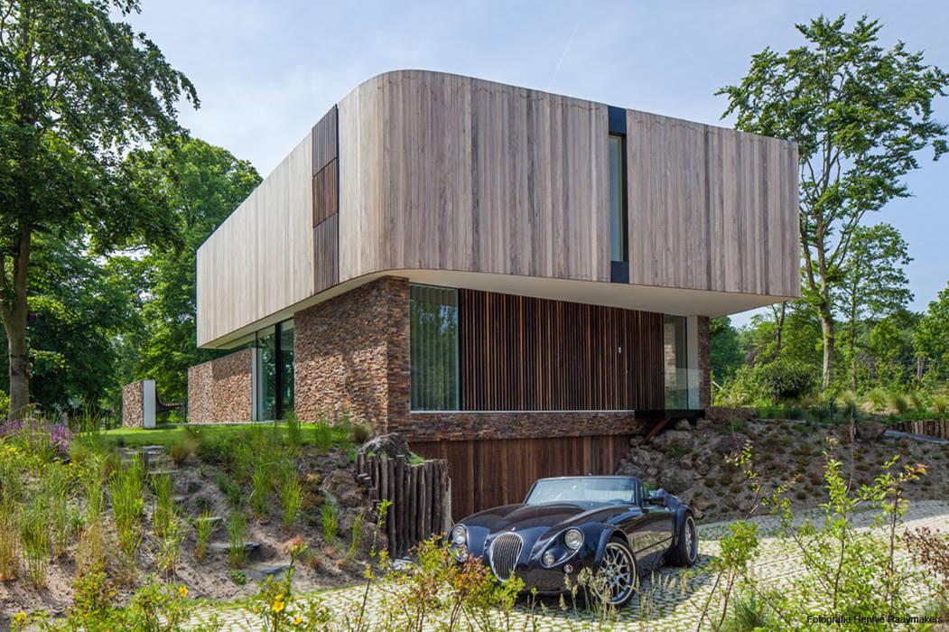 Foto 39 s van een moderne huizen homify - Foto gevel moderne villa ...